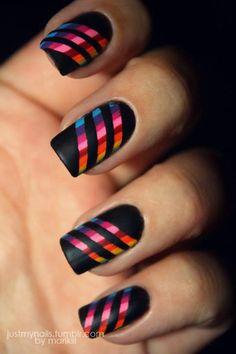 Rainbow nails :D