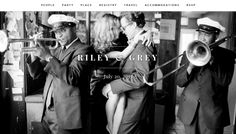 custom wedding websites from Riley & Grey