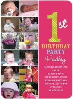 Tiny Prints-Birthday Party Invitations Photo Year - Front : Begonia