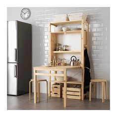 IVAR Shelving unit with foldable table IKEA