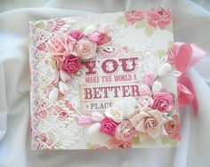 Shabby Chic Love You Album - Scrapbook.com