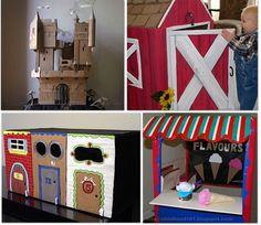 32 Things to make using a cardboard box
