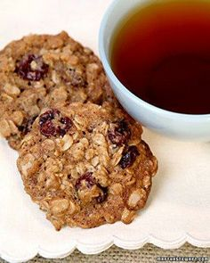 Chewy Cherry-Oatmeal Cookies Recipe