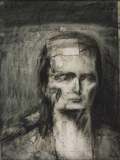 Frank Auerbach (German-British b. 1931) Head of E.O.W. 1959-60. Tate.