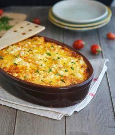 Roasted Cauliflower, Tomato and Goat Cheese Casserole