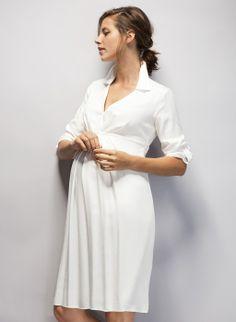 Pianna Maternity Shirt Dress  Isabella Oliver   Maternity Workwear