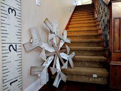 DIY Reclaimed Wood Snowflake
