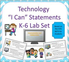 Technology I Can Statements for the K-6 Computer Lab BUNDLE. Great price for over 100 I Can Statements! $ technology lab, computer lab organization, comput lab, computer lab ideas