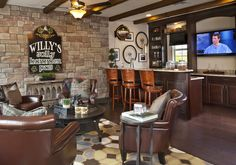 Man Cave Masterpiece - Rustic - Game/Rec room - Images by Masterpiece Interiors, Inc. | Wayfair