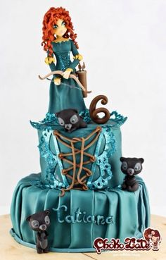 Merida - Brave Cake...you know, my birthday is in February!!  And this would be perfect!