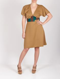 Vestido cinturón parches #dress