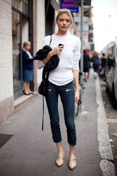 pointed flats outfit, street style, streetstyle