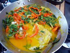 Moqueca Bainana - Brazailian seafood stew from Bahia made with coconut milk and palm oil