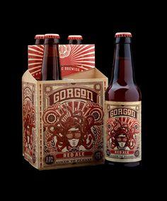 ballist brew, label design, packag inspir, red ale, beer labels, packag design, gorgon, stranger, ales