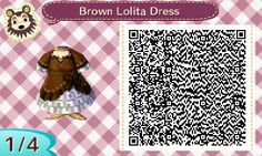 Brown Lolita Dress | QRCrossing.com
