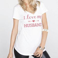 I Love My Husband Shirt is back in vneck :)