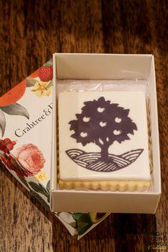 Custom fluted edge vanilla shortbreads w edible printing