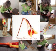 DIY Fishing Pole Cat Toy