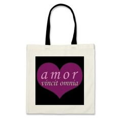 Amor Vincit Omnia Love Conquers All Valentines Day Canvas Bag