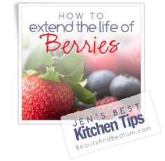 Keep those berries fresh for WEEKS! Extend the life of your berries by weeks with this simple tip from www.beautyandbedlam.com