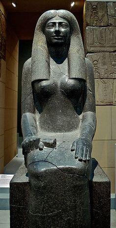 MFA Egyptian Statue of Lady Sennuwy I