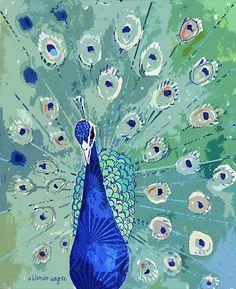 Peacock by Arline Wagner