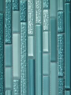 Turquoise Tile Backsplash   ... Horizontal Mosaic Glass Tile Kitchen Backsplash Bathroom Shower   eBay