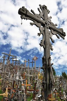 Siauliai Hill of Crosses. Lithuania. Since the medieval period, the Hill of Crosses has represented the peaceful resistance of Lithuanian Catholicism to oppression. In 1795 Siauliai was incorporated into Russia but was returned to Lithuania in 1918. Many crosses were erected upon the hill after the peasant uprising of 1831-63. By 1895, there were at least 150 large crosses, in 1914 200, and by 1940 there were 400 large crosses surrounded by thousands of smaller ones.