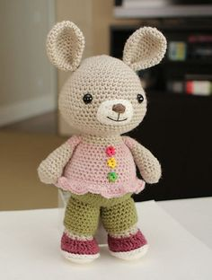 Ravelry: Rosie Rabbit pattern by Little Muggles.