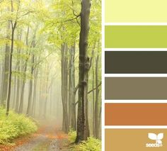 forest hues- love these colors for living room