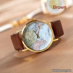 Hey, I found this really awesome Etsy listing at https://www.etsy.com/listing/168949941/70-off-world-map-watch-unisex-watch