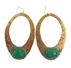 De Petra Amazona dangle earrings with peruvian opal