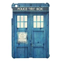 Vintage Police phone Public Call Box Cover For The iPad Mini