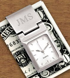 Personalized Watch Money Clip - father's day gift