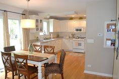 decor, hous kitchen, hous stuff, colors, hous idea, counter color, little kitchen, subway tiles, univers khaki