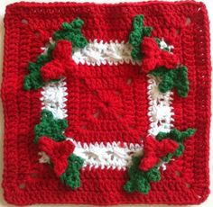 Holly square free pattern