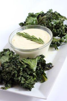 Paleo Garlic Aioli with Kale Chips