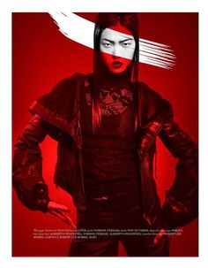 Tian Yi is 'on fire' in Vestal Mag (Issue 12). Ph Kevin Sinclair