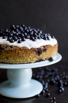 Blueberry, Lemon, Poppy Seed & Almond Cake (Gluten-Free, Grain-Free)