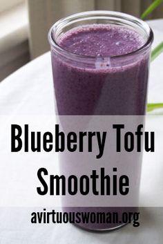 Blueberry Tofu Smoothie Recipe @ AVirtuousWoman.org