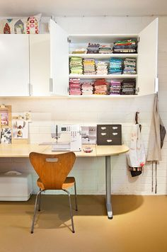 Where I Sew – Carrie Bloomston of SUCH Designs  idea for sewing space