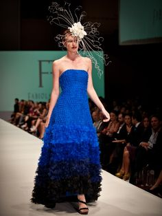 Love the color and the texture of this dress by Fabiola Arias.