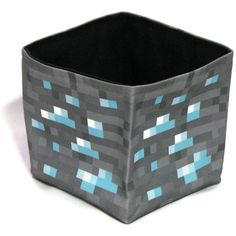 Minecraft inspired Diamond Ore Cube Treasure Box / Desk Storage / Organizer. $18.00, via Etsy.