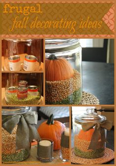 Frugal fall decorations via @Design Hub Hise {passionatepennypincher.com}/