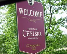 Chelsea, Michigan.  Stopped there in honor of my third daughter.  Chelsea is the home to Chelsea Milling Company, the manufacturers of Jiffy Mix.  Also home to the Chelsea Bear company.