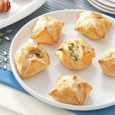 Ham and Broccoli Puffs ~ Look complex but they're easy to make and still very elegant.