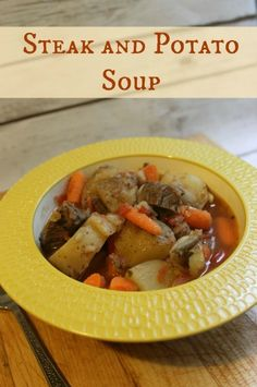 Steak and Potato Soup Recipe - this hearty soup is perfect for chilly fall evenings!