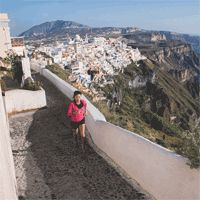Wow! Running in Greece! Sounds delightful!