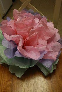 Large Tissue Paper Flower Tutorial