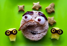 movi snack, snack foods, lunch, minion movi, movie night foods party, parti